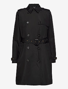 Taffeta Trench Coat - trenchcoats - black