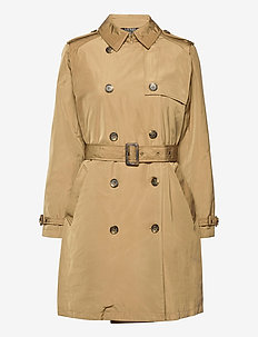 Taffeta Trench Coat - trenchcoats - sand