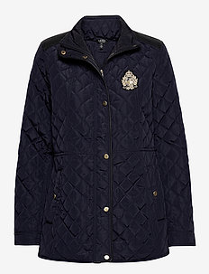 SATIN FINISH-MLTRY QUILT W CREST - quiltede jakker - dark navy