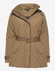 Quilted Hooded Jacket - quilted jakker - sand