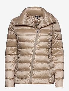 Asymmetrical Down Jacket - fôrede jakker - canyon khaki