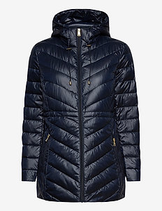 Packable Down Anorak Coat - padded coats - navy