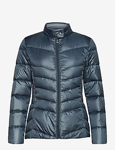Down Moto Jacket - down- & padded jackets - slate blue