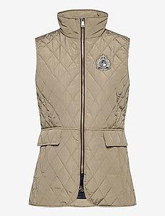 Quilted Crest Vest - vatteret veste - taupe