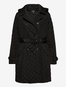 Quilted Trench Coat - quilted jassen - black