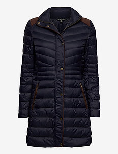 Quilted Down Jacket - fôrede jakker - navy