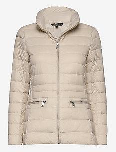Short Quilted Jacket - fôrede jakker - lt beige