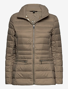Short Quilted Jacket - doudounes - taupe