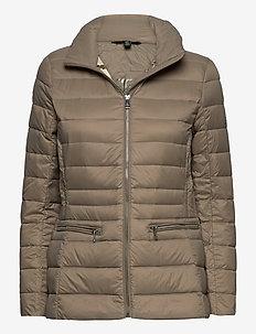 Short Quilted Jacket - fôrede jakker - taupe