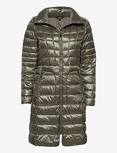 Quilted Mockneck Coat - dynefrakke - pewter