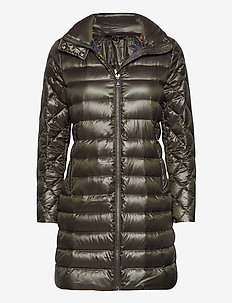 Packable Quilted Down Coat - manteaux d'hiver - dk olive