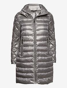 Packable Quilted Down Coat - dynefrakke - silver