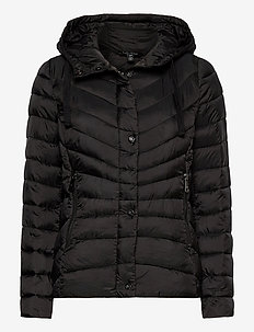 Quilted Hooded Jacket - doudounes - black