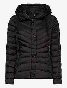 Quilted Hooded Jacket - fôrede jakker - black