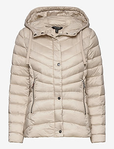 Quilted Hooded Jacket - down- & padded jackets - lt beige