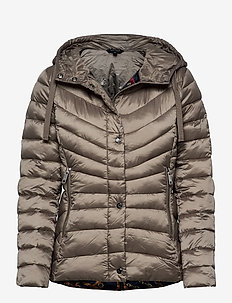 Quilted Hooded Jacket - down- & padded jackets - taupe