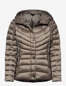 Quilted Hooded Jacket - fôrede jakker - taupe