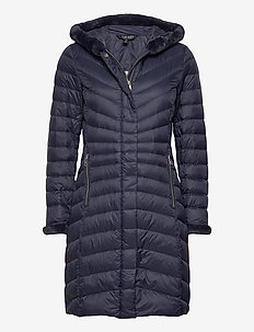 Faux Fur-Trim Down Coat - dunkåper - navy