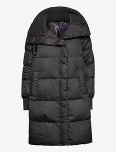 Down Mockneck Coat - dunkåper - black