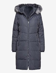 Hooded Down Coat - dunkåper - slate grey