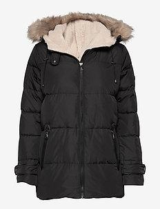 Hooded Down Coat - fôrede jakker - black