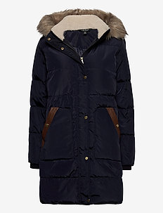 Hooded Down Coat - dunkåper - dk navy