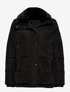 Boxy Down Jacket - fôrede jakker - black