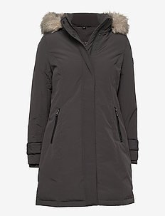 Hooded Expedition Down Coat - parkas - slate