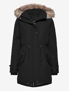 Hooded Parka Coat - parkacoats - black
