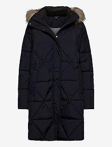 Quilted Hooded Down Coat - dunkåper - dk navy