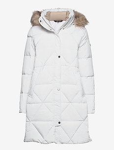 Quilted Hooded Down Coat - dunkåper - winter white