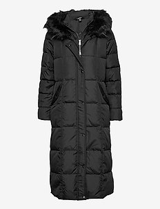 Quilted Down Maxi Coat - dunkåper - black