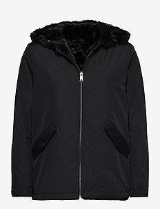 Reversible Faux-Fur Coat - fausse fourrure - black