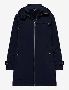 Hooded Quilted-Bib Jacket - quiltede jakker - navy