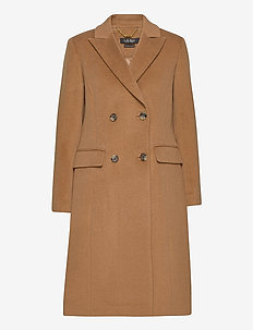 Wool-Blend Maxi Coat - wool coats - new vicuna