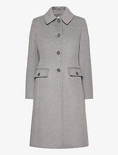 Wool-Cashmere Coat - uldfrakker - light heather gre