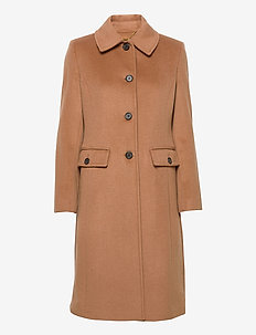 Wool-Cashmere Coat - uldfrakker - new vicuna