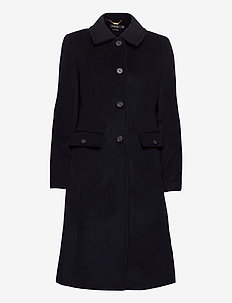 Wool-Cashmere Coat - wool coats - regal navy