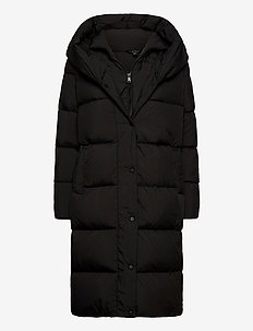 Oversize-Collar Down Coat - dunkåper - black