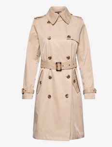 Double-Breasted Trench Coat - trenchs - beige