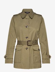 Belted Trench Coat - vestes legères - loden green