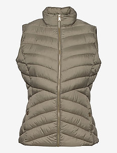 Insulated Quilted Vest - puffer vests - fresh sage