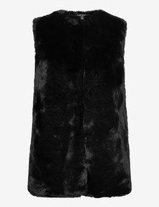 Faux-Fur Vest - kamizelki ocieplane - black
