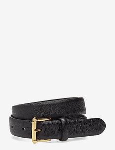 Leather Belt - BLACK (GOLD)
