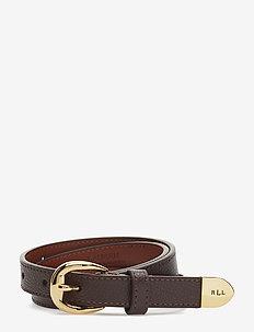 Bennington II Leather Belt - DARK BROWN
