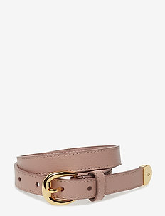 Bennington II Leather Belt - vyöt - mellow pink