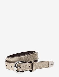Bennington II Leather Belt - PLATINO