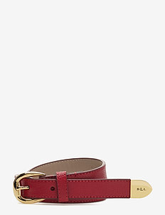 Bennington II Leather Belt - RED