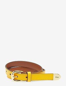 Bennington II Leather Belt - SUNFLOWER