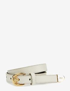 Bennington II Leather Belt - VANILLA